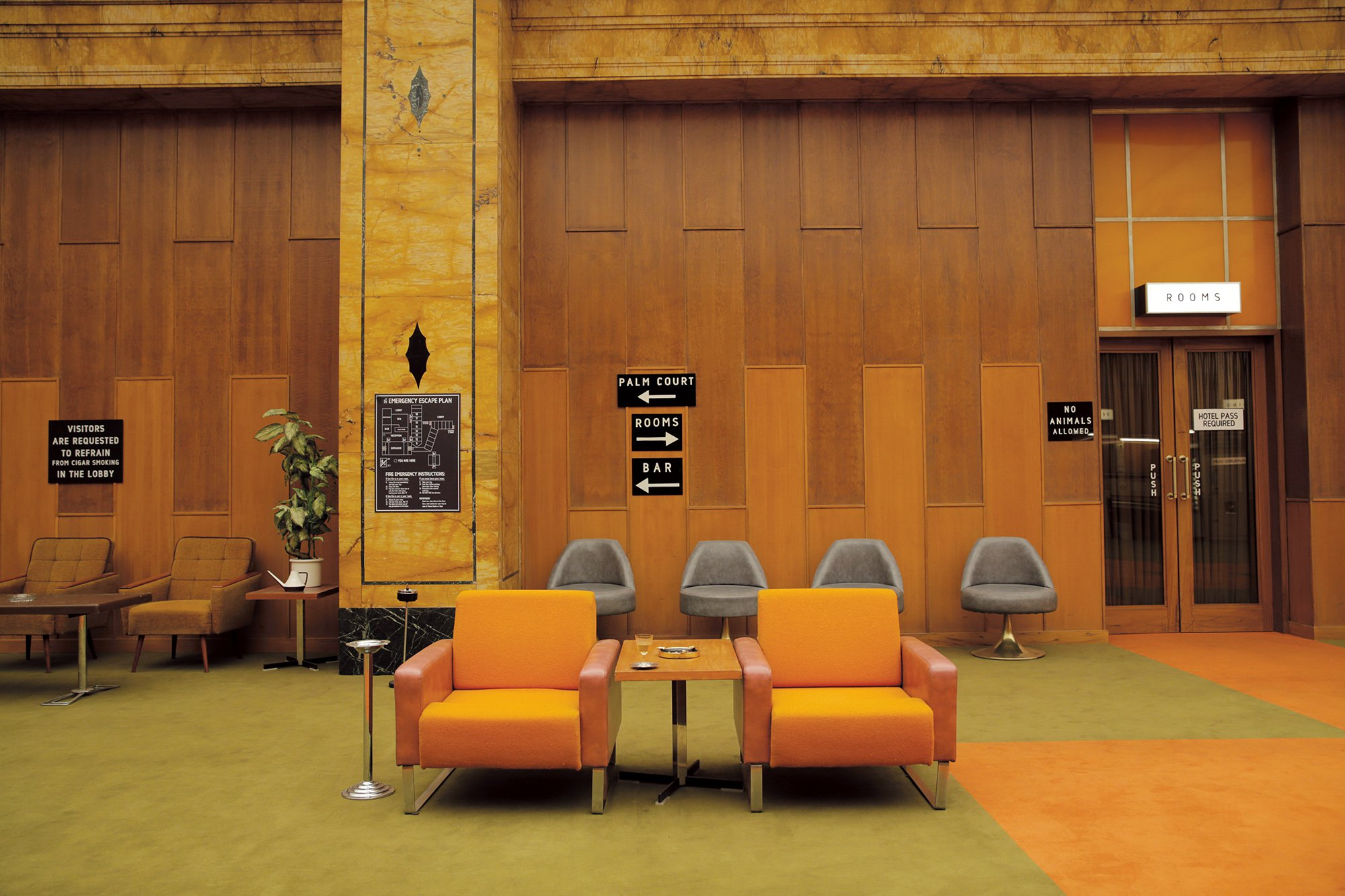 The interiors of wes anderson nowness for Design hotel budapest